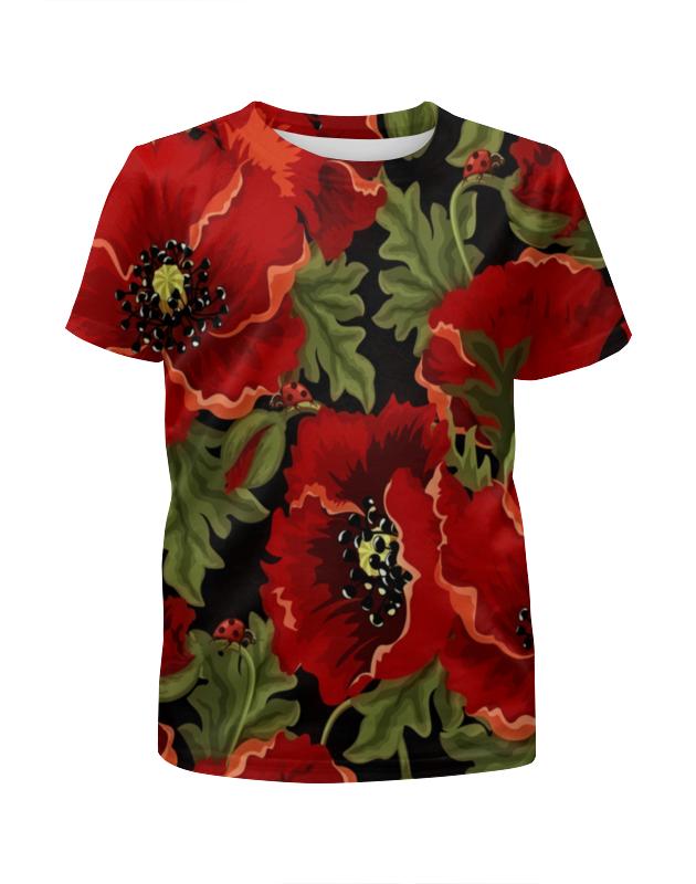 Футболка с полной запечаткой для девочек Printio Полевые маки футболка с полной запечаткой для девочек printio цветы полевые