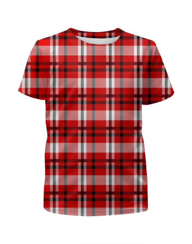 Футболка с полной запечаткой для девочек Printio Красная клетка футболка с полной запечаткой для мальчиков printio красная клетка