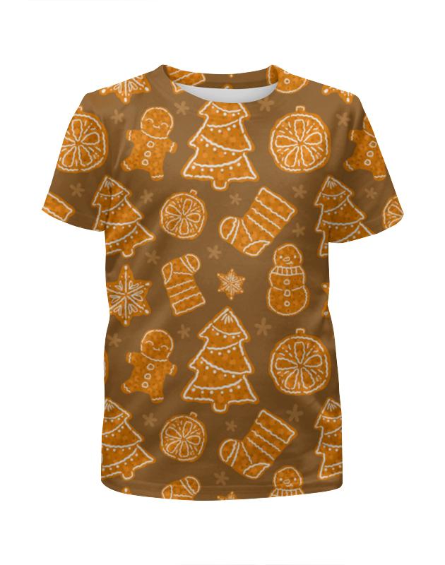 Футболка с полной запечаткой для девочек Printio Christmas dessert свитшот print bar christmas dessert