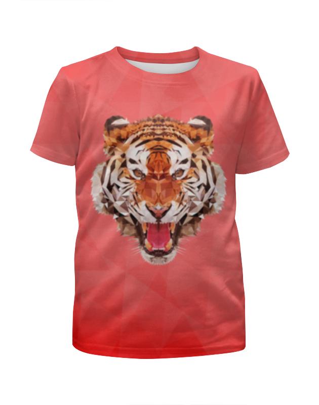 Футболка с полной запечаткой для девочек Printio Полигональный тигр футболка с полной запечаткой для девочек printio одноглазый тигр