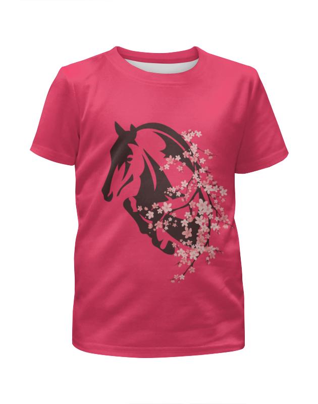 Футболка с полной запечаткой для девочек Printio Лошадь рюкзак с полной запечаткой printio девушка и лошадь