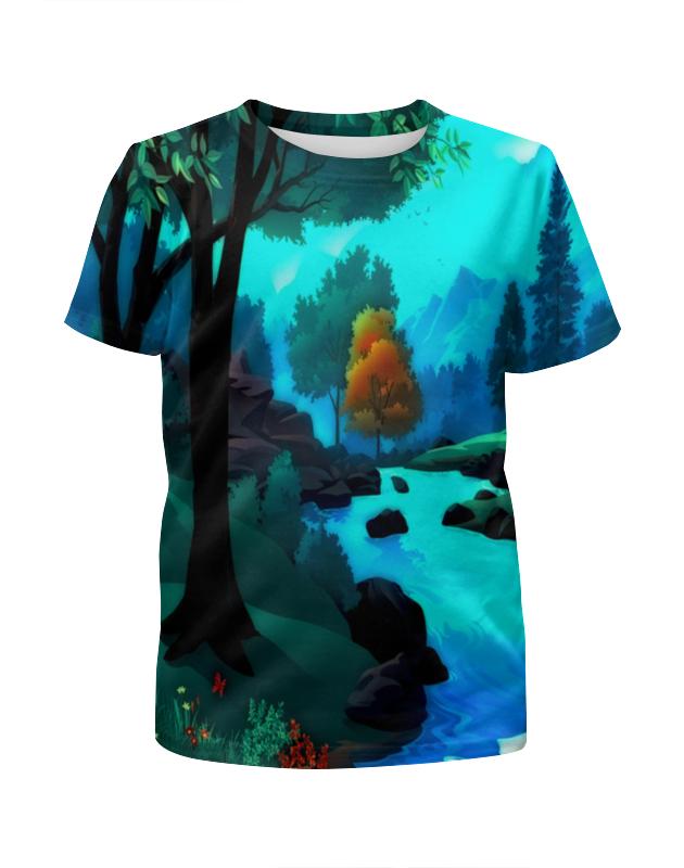 Футболка с полной запечаткой для девочек Printio Пейзаж футболка с полной запечаткой для девочек printio пейзаж красками