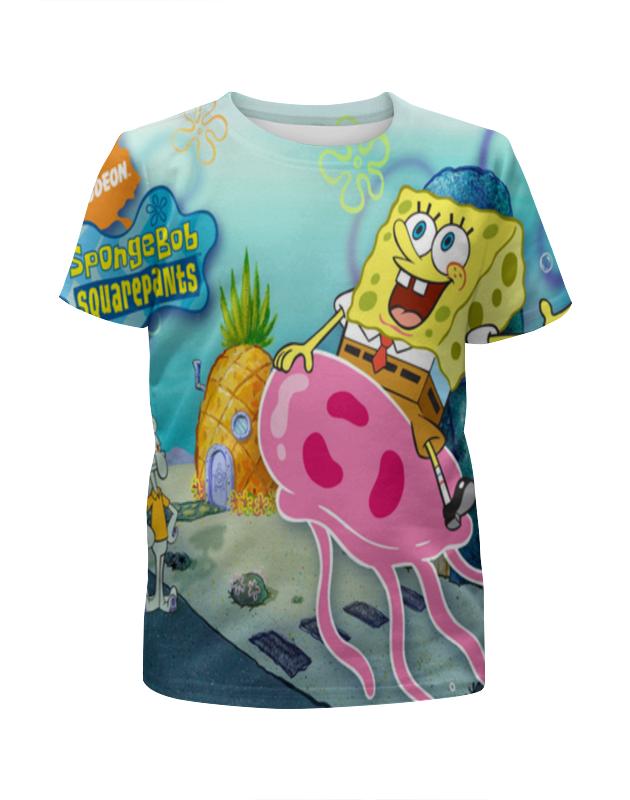 Printio Спанч боб любимый мульт герой футболка с полной запечаткой для девочек printio спанч боб