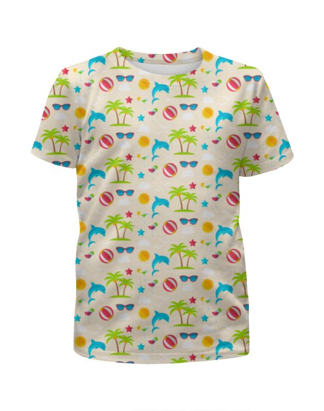 Футболка с полной запечаткой для девочек Printio Летний отдых футболка с полной запечаткой для девочек printio spawn