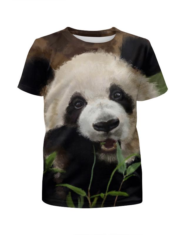 Футболка с полной запечаткой для девочек Printio Панда!!! футболка с полной запечаткой для девочек printio панда арт