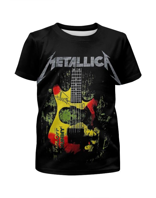 Футболка с полной запечаткой для девочек Printio Metallica футболка с полной запечаткой для девочек printio мишка тед