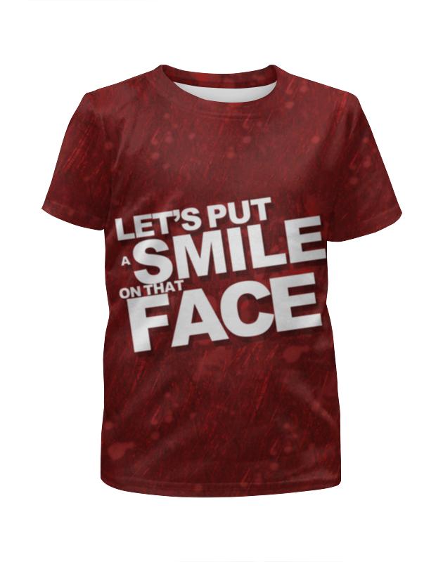 Футболка с полной запечаткой для девочек Printio Smile joker smile line коляска трансформер oscar pcos 01 smile line бежевый зеленый принт