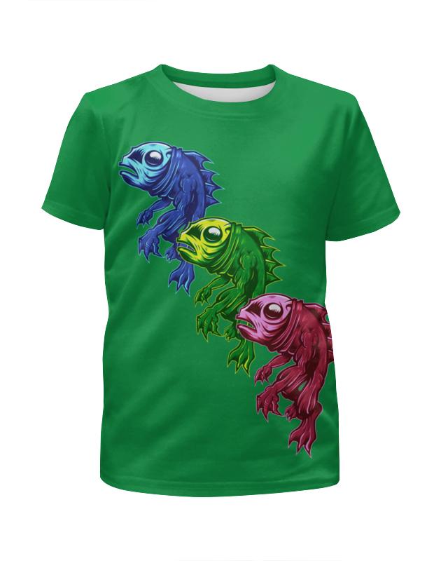 Футболка с полной запечаткой для девочек Printio Три рыбешки футболка с полной запечаткой для девочек printio пртигр arsb