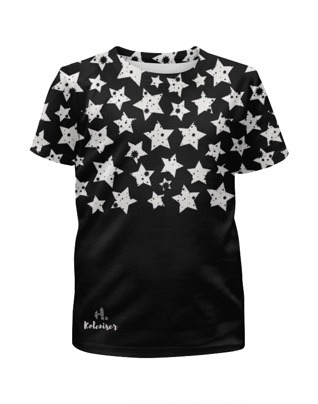 Футболка с полной запечаткой для девочек Printio Stars футболка с полной запечаткой для девочек printio гонщик