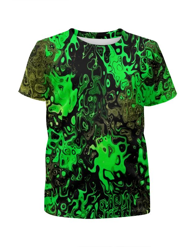 Футболка с полной запечаткой для девочек Printio Серо-зеленый футболка с полной запечаткой для девочек printio серо коричневый камуфляж