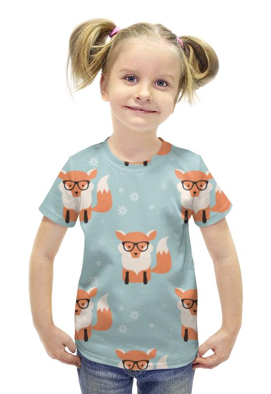 Футболка с полной запечаткой для девочек Printio Лисички футболка с полной запечаткой для девочек printio пртигр arsb
