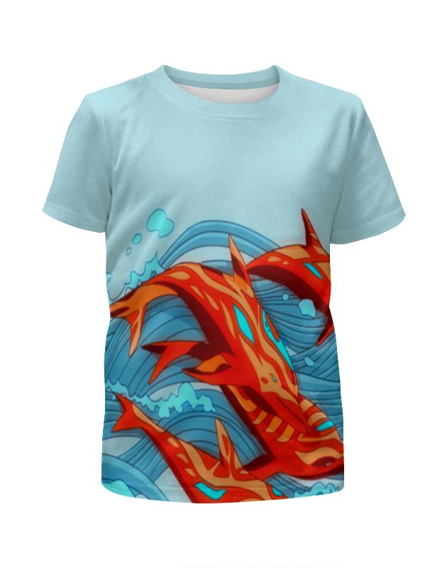 Футболка с полной запечаткой для девочек Printio Cs go :аквамарин футболка с полной запечаткой женская printio cs go asiimov camouflage