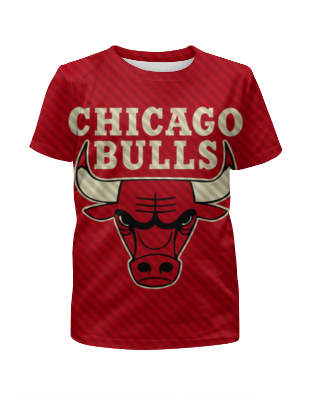Футболка с полной запечаткой для девочек Printio Чикаго буллз (chicago bulls) футболка wearcraft premium slim fit printio spider minion