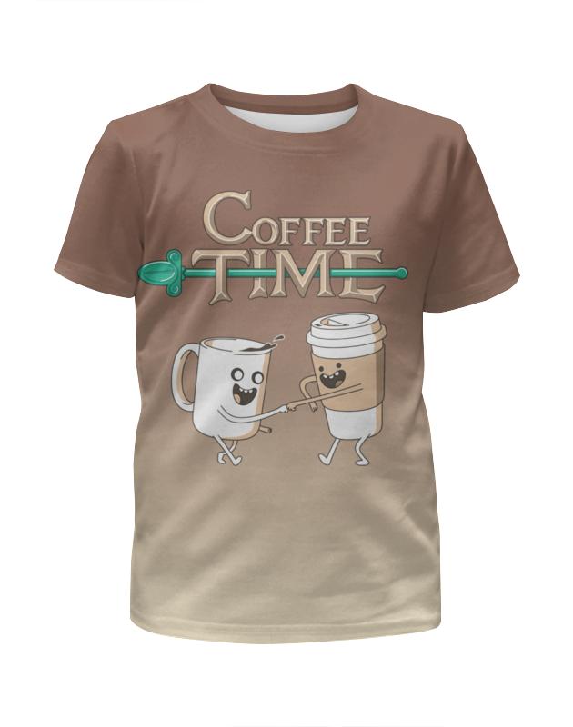 Футболка с полной запечаткой для девочек Printio Время кофе футболка с полной запечаткой для девочек printio пртигр arsb