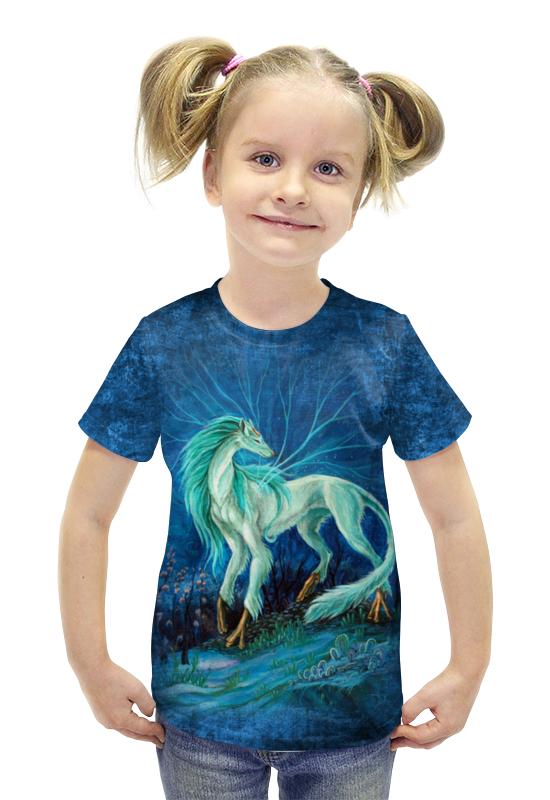 Футболка с полной запечаткой для девочек Printio Ллаумер жемчужный футболка с полной запечаткой printio война миров z