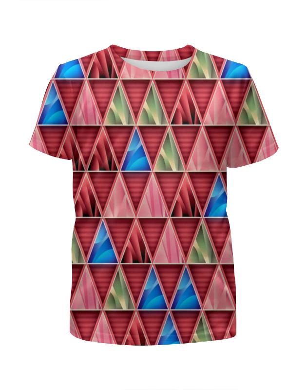 Футболка с полной запечаткой для девочек Printio Графические фигуры футболка с полной запечаткой для девочек printio пртигр arsb