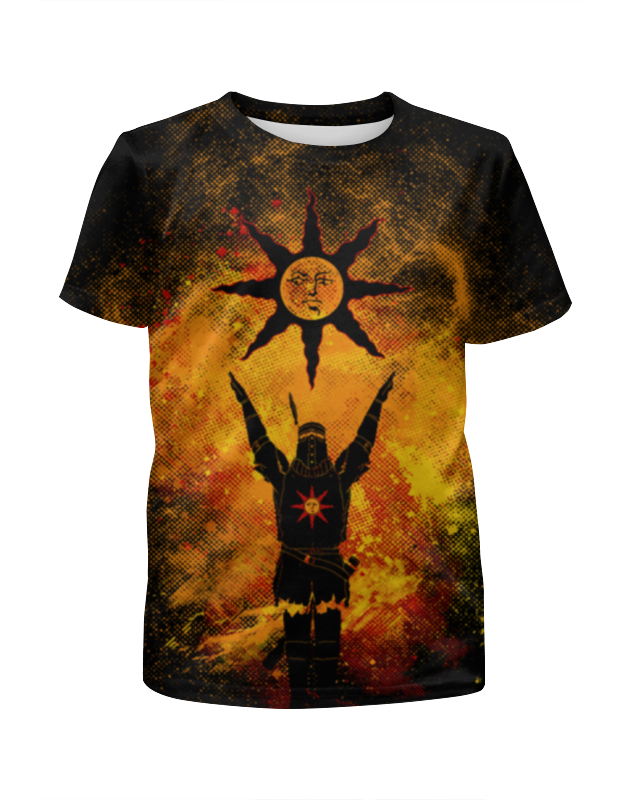 Футболка с полной запечаткой для девочек Printio Славьте солнце футболка с полной запечаткой для девочек printio абстрактное красное геометрическое солнце