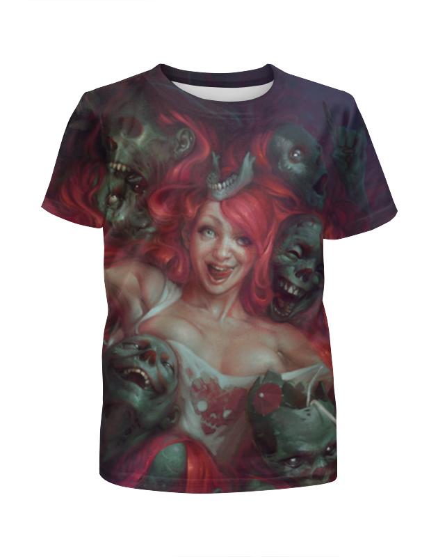Футболка с полной запечаткой для девочек Printio Зомби / zombie футболка с полной запечаткой для мальчиков printio зомби zombie