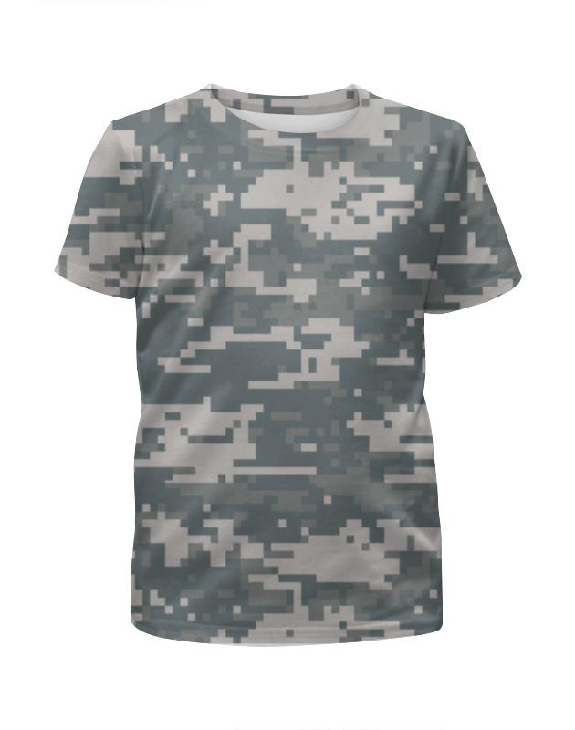 Printio Камуфляж (цифра) футболка с полной запечаткой для девочек printio голубой камуфляж