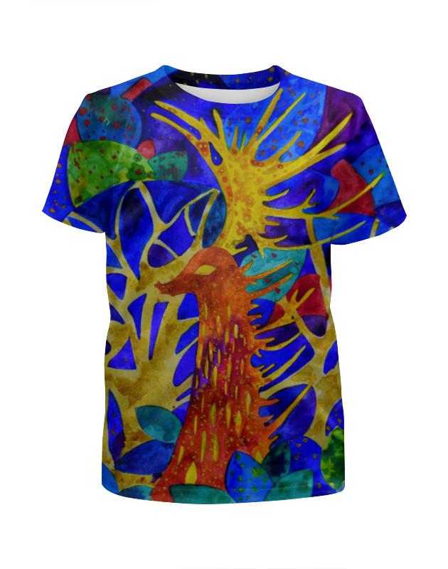 Футболка с полной запечаткой для девочек Printio Космический олень футболка с полной запечаткой printio северный олень