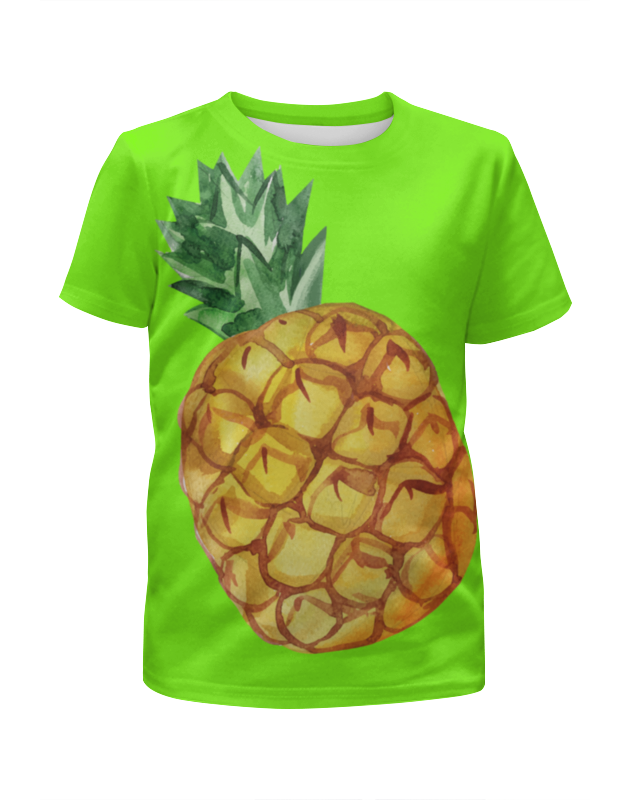 Футболка с полной запечаткой для девочек Printio Ананас футболка с рисунком ананас 100