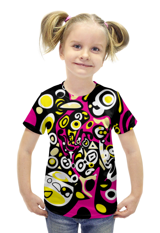 Футболка с полной запечаткой для девочек Printio Iommm50233 футболка с полной запечаткой для девочек printio пртигр arsb