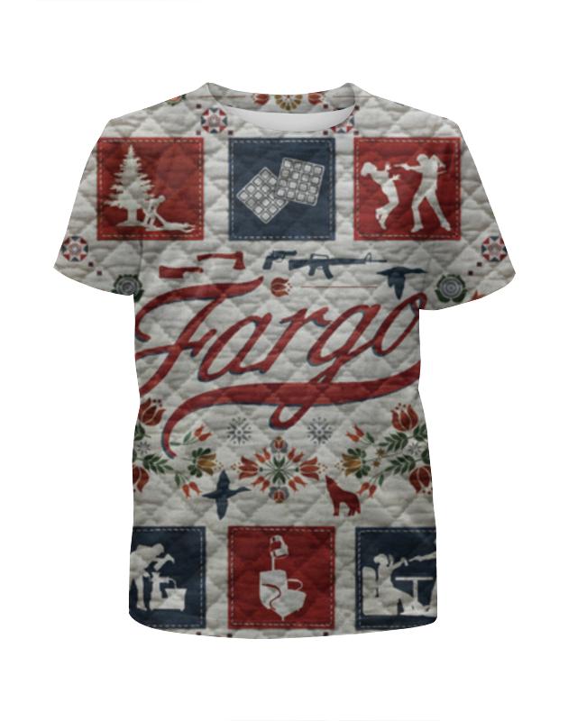 Футболка с полной запечаткой для девочек Printio Фарго / fargo майка классическая printio fargo фарго