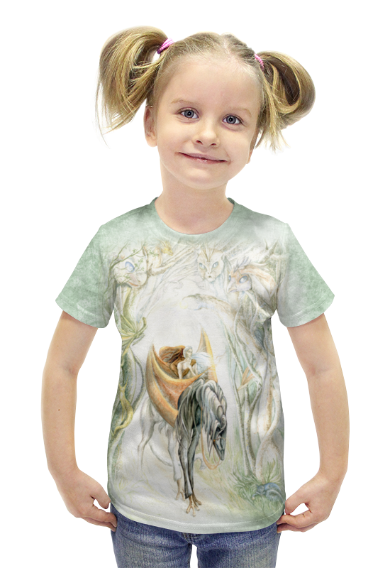 Футболка с полной запечаткой для девочек Printio Странники футболка с полной запечаткой для девочек printio война миров z
