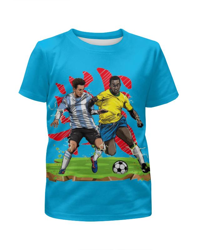 Футболка с полной запечаткой для девочек Printio Футболисты игра футболисты и красавицы барбоскины