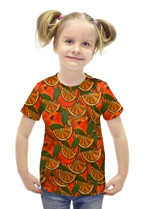 Футболка с полной запечаткой для девочек Printio Апельсин футболка с полной запечаткой для девочек printio пртигр arsb