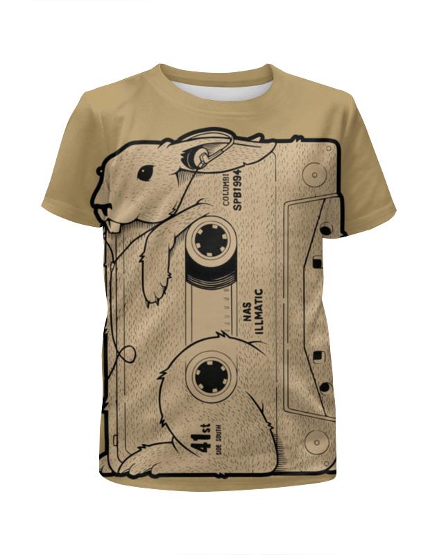 Футболка с полной запечаткой для девочек Printio Rabbit cool mix / крутой кроличий микс лонгслив printio rabbit cool mix крутой кроличий микс