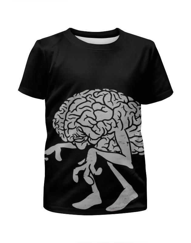 Футболка с полной запечаткой для девочек Printio Brain / мозг цена и фото