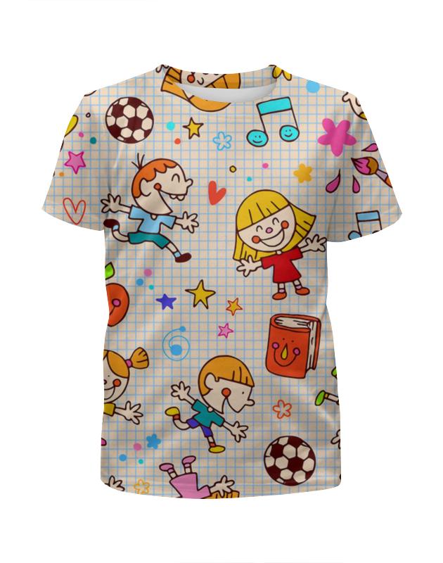 Футболка с полной запечаткой для девочек Printio Детство платья для девочек