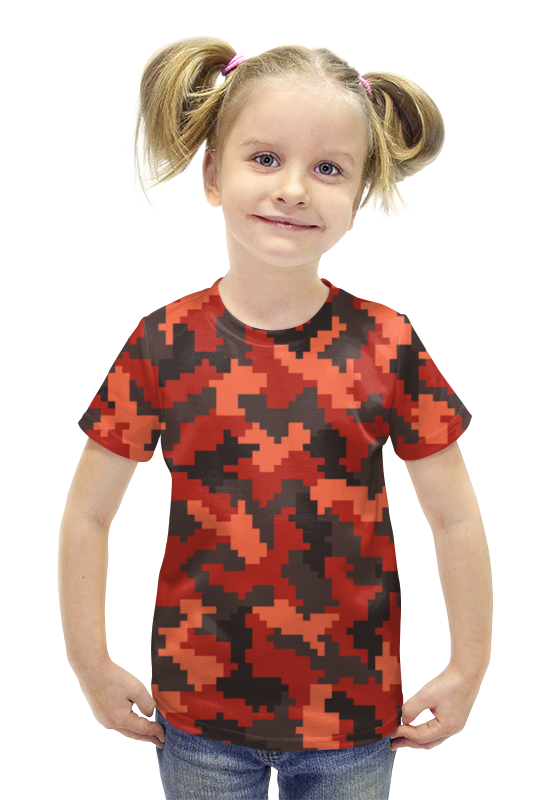 Футболка с полной запечаткой для девочек Printio Пиксельный футболка с полной запечаткой для девочек printio пртигр arsb