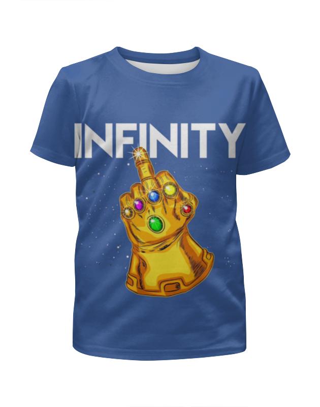 Футболка с полной запечаткой для девочек Printio Infinity сандалии infinity by acoola для девочек leo полосатые оранжевые