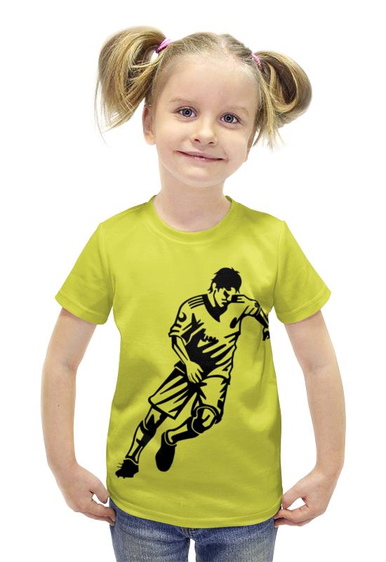 Футболка с полной запечаткой для девочек Printio Футболист футболка с полной запечаткой для девочек printio пртигр arsb