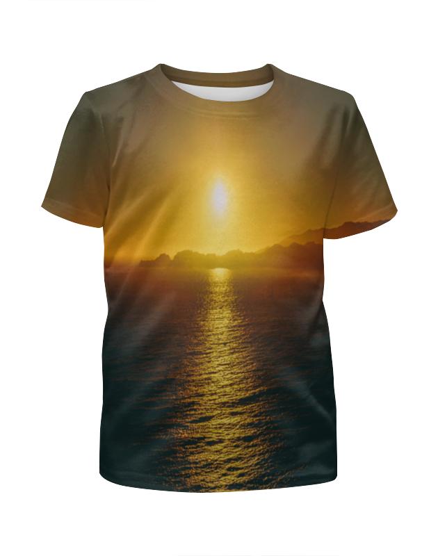 Футболка с полной запечаткой для девочек Printio Закат над морем футболка с полной запечаткой для девочек printio закат в красках