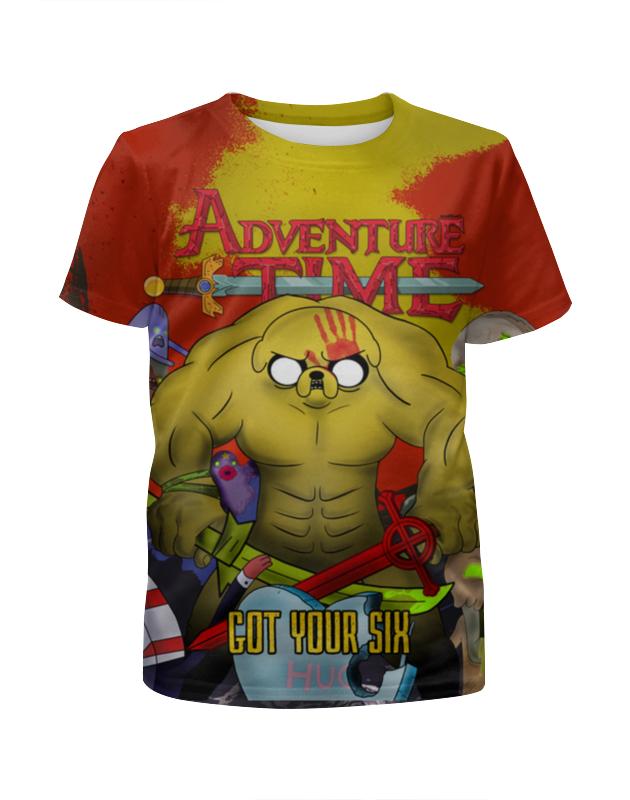 Футболка с полной запечаткой для девочек Printio Adventure time - got your six write your own adventure stories