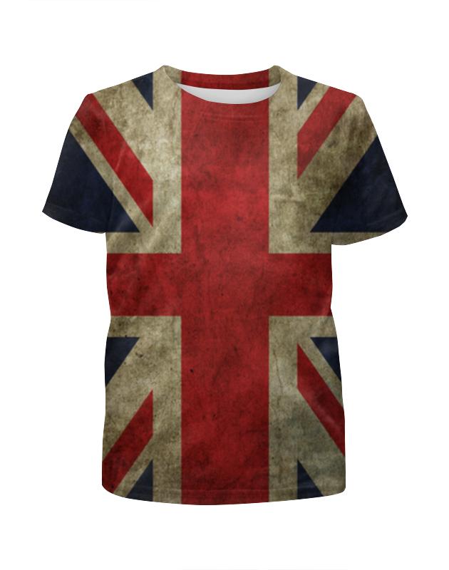 Футболка с полной запечаткой для девочек Printio Британский флаг футболка с полной запечаткой для девочек printio пртигр arsb