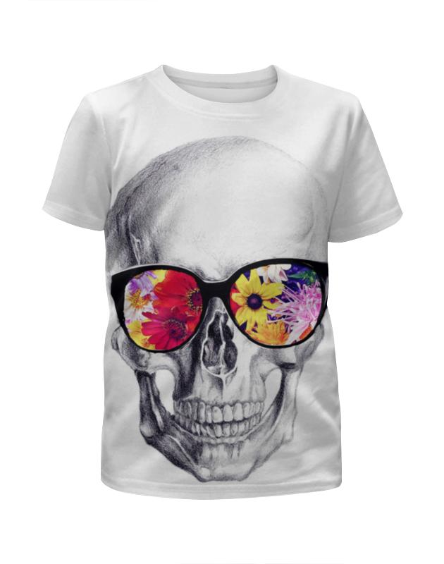 Футболка с полной запечаткой для девочек Printio Skull art футболка с полной запечаткой для девочек printio hydra red skull