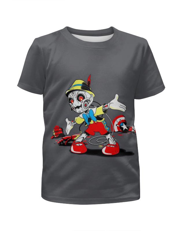 Футболка с полной запечаткой для девочек Printio Пиноккио футболка с полной запечаткой для девочек printio мишка тед