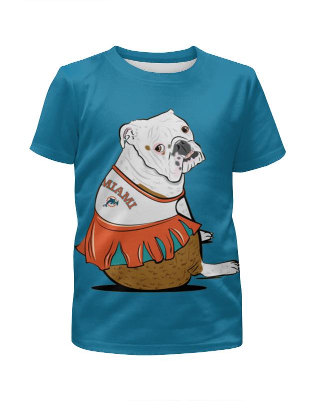 Футболка с полной запечаткой для девочек Printio Собачка на отдыхе футболка с полной запечаткой для девочек printio на отдых