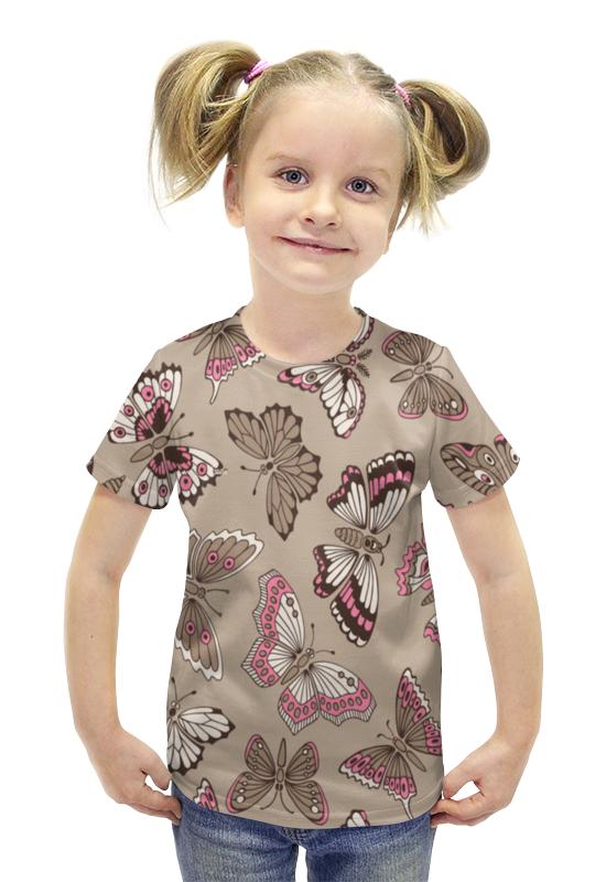 Футболка с полной запечаткой для девочек Printio Бабочки футболка с полной запечаткой для девочек printio spawn