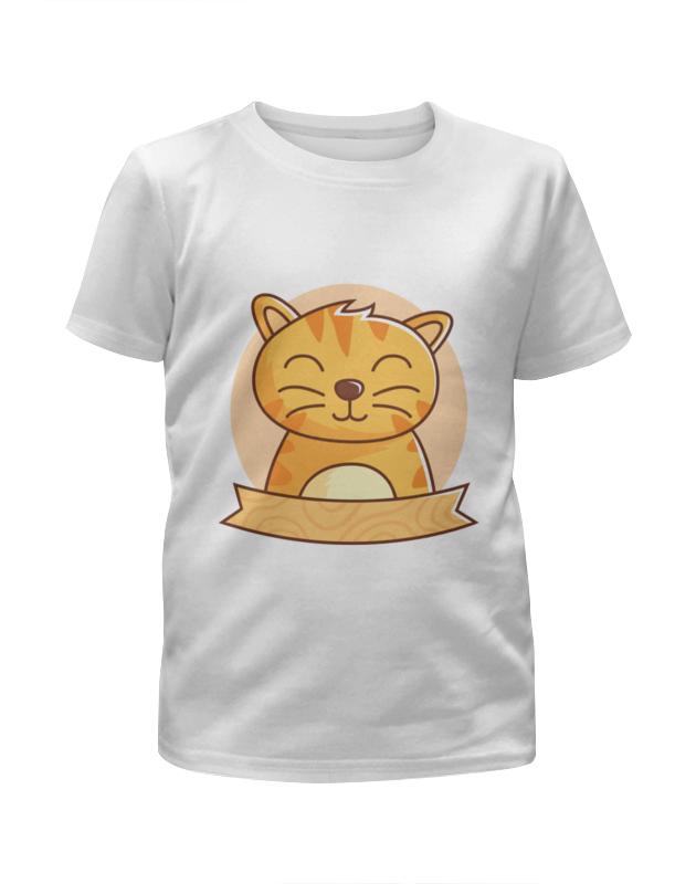 Футболка с полной запечаткой для девочек Printio Спящий  котёнок футболка с полной запечаткой для девочек printio дайвинг