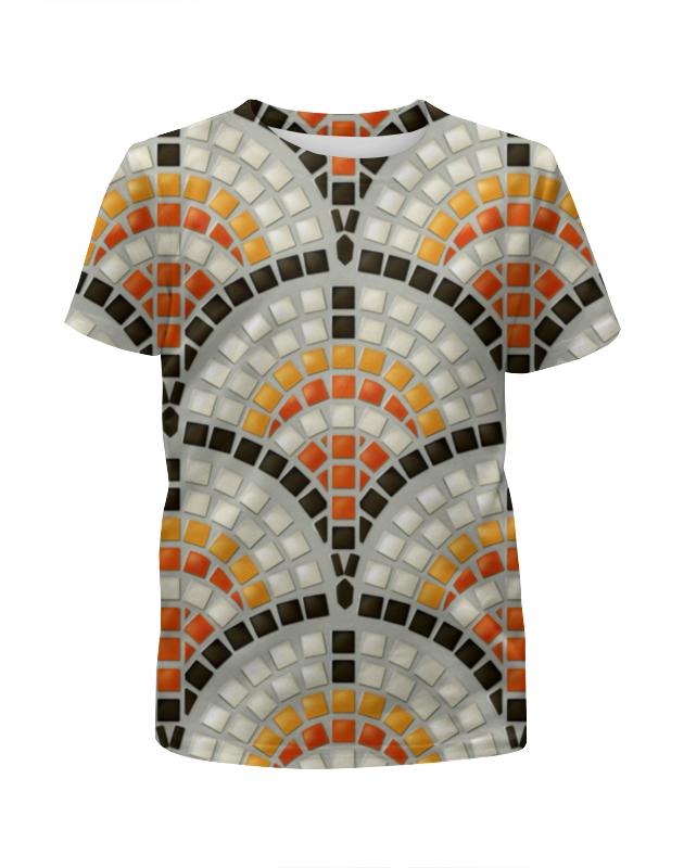Футболка с полной запечаткой для девочек Printio Античная мозаика цены
