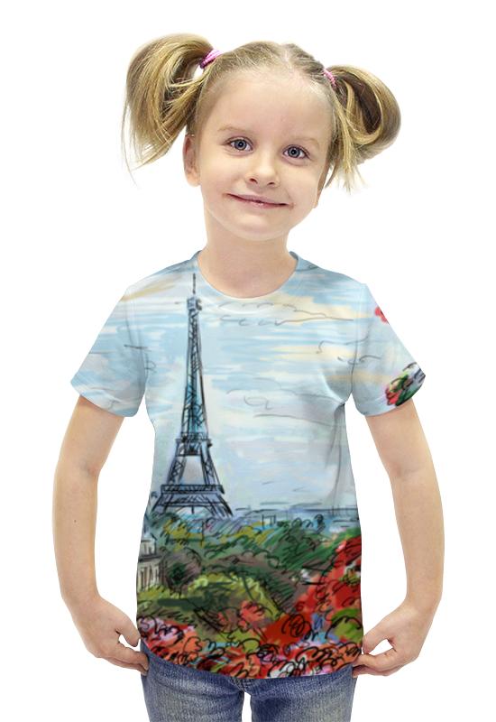 Футболка с полной запечаткой для девочек Printio Эйфелева башня макет эйфелевой башни спб