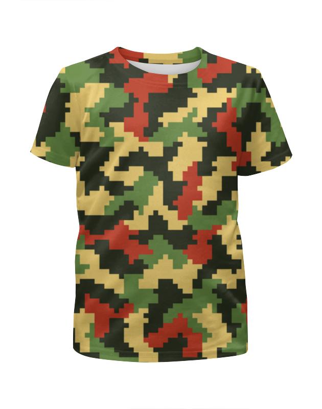 Футболка с полной запечаткой для девочек Printio Цветной камуфляж футболка с полной запечаткой для девочек printio дайвинг