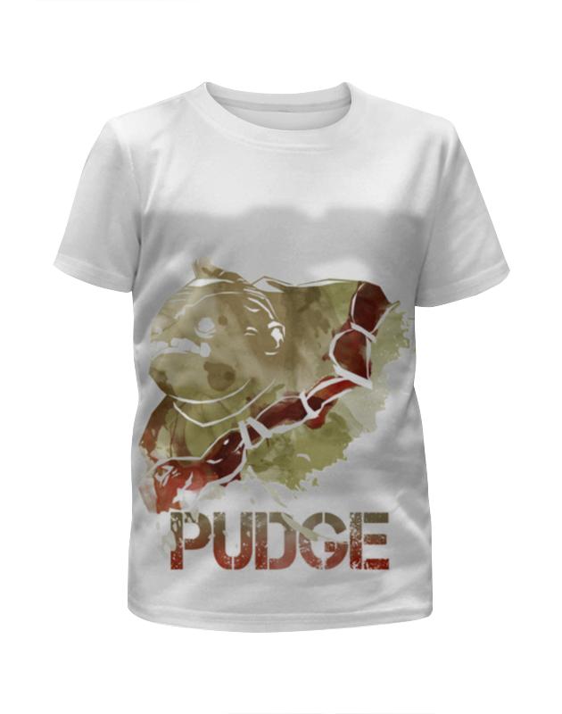 Футболка с полной запечаткой для девочек Printio Pudge dota 2 футболка с полной запечаткой для девочек printio dota 2 lina on fire
