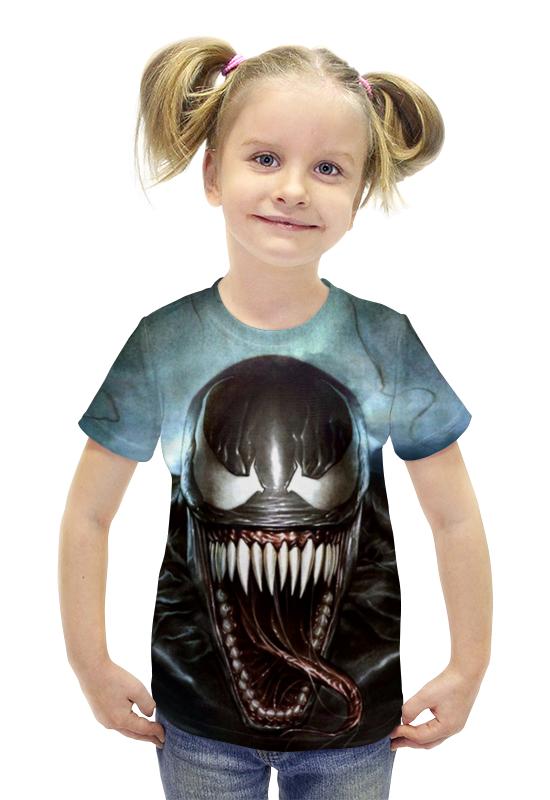 Футболка с полной запечаткой для девочек Printio Venom футболка с полной запечаткой для девочек printio пртигр arsb