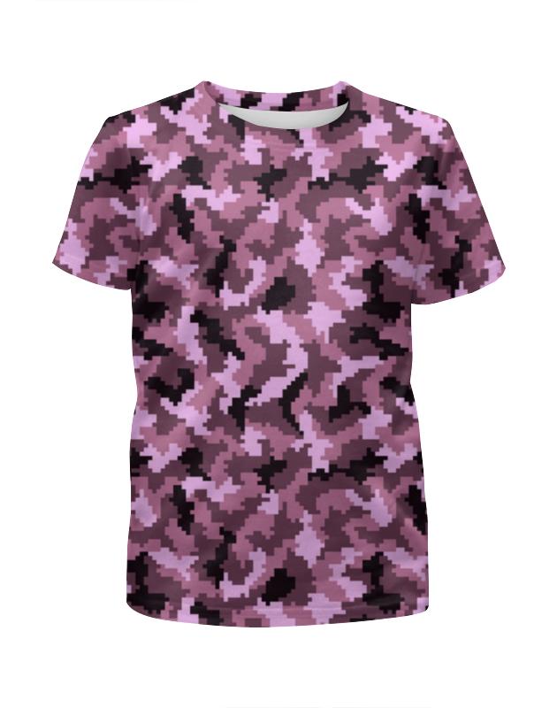 Футболка с полной запечаткой для девочек Printio Розовые пиксели футболка с полной запечаткой для девочек printio пртигр arsb